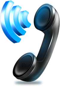 Image of a phone handset with sound coming out
