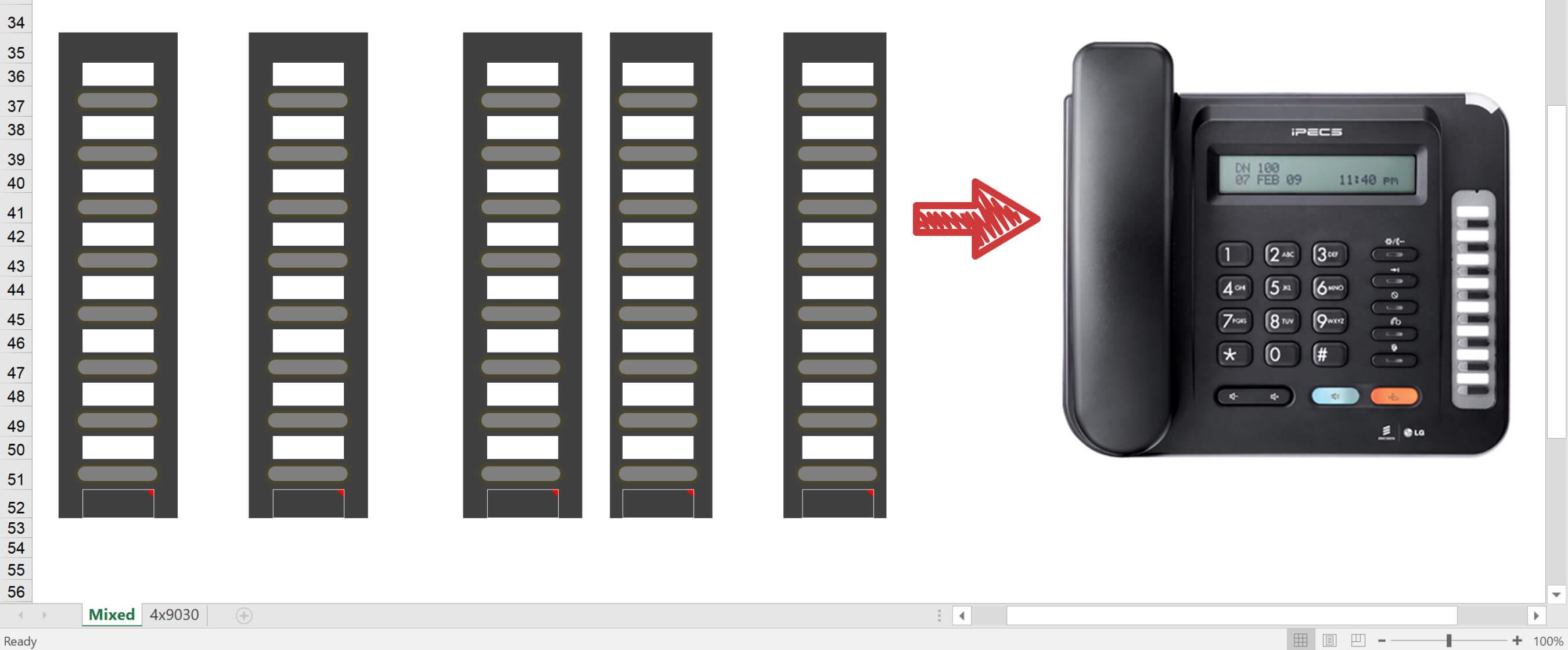 iPecs Phone Handset Label Printing Guide - Infiniti