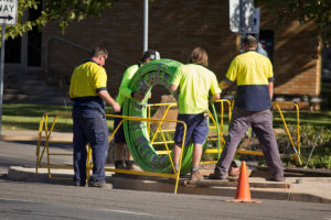 NBN Co fibre cable being laid